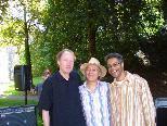 """Das Trio Schreiber-Lindner-Wagner/ """"Andi-Gang"""" (von links) im Reichenfeldpark"""