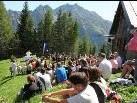 Der Wintersportverein Nofels feiert Bergmesse im Brandnertal