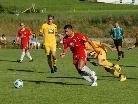 Die Alberschwender Verteidiger hatten den Egger Goalgetter Selcuk Olcum gut im Griff.