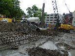 Erschwerte Arbeiten durch Regenfälle
