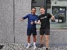 Manuel Hehle (r.) und Roberto Maier möchten Anfänger zum Viertelmarathon bringen.