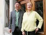 Andrea Fritz wünschte ihrem Nachfolger Mario Lechner einen guten Einstand im Emser Rathaus.