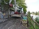 Aufgrund der Aushubarbeiten auf der Rückseite des KH ist der Uferweg (Achstraße) gesperrt.