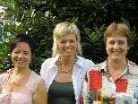 Brigitte Vetter, Doris Blum und Sabine Schmid laden zum Tag der offenen Tür.
