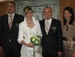 Das Brautpaar aus Nüziders tauschte in Bludenz die Ringe
