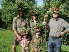 """Familie Kohler mit """"Ihne"""" Friedl wieder im Tal."""