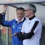 Feldkirch-Trainer Klaus Stocker (l.) ist mit dem bisherigen Verlauf nicht zufrieden.