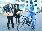 Frische Kipferl als Belohnung für die Benutzung alternativer Verkehrsmittel auf dem Arbeitsweg