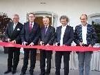 Gert Prantner (RIMC International), Hartmut Geese (RIMC Austria), LH Herbert Sausgruber, Roland Pircher (bauart) und Bgm Xaver Sinz.