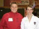 Michael Greiter mit seinem Trainer Patrick Rusch