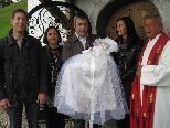 Paulina Mähr wurde im Ludescherb erger Kirchle getauft