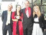 Sandra und Michael Mitterhuber mit den Trauzeugen Sibylle Heinz und Markus Kiss.