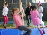 Spaß, Spiel und sportliche Betätigung beim Kinderturnen mit Sibylle Bobleter.