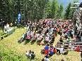 Umrahmt von der herrlichen Bergwelt wurde die Dank-Bergmesse am Niggenkopf gefeiert