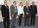 Wolfgang Türtscher, Stefan Fischnaller, LR Andrea Kaufmann, Arthur Schneeberger, KO Rainer Gögele