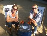 Zahlreiche Besucher genossen den gestrigen Nachmittag in der Beach Bar