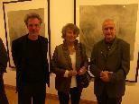 (v.l.) Norbert Pümpel mit Dr. Magdalena Hörmann und Markus F. Strieder bei der Vernissage im Palais Liechtenstein..