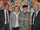 Arno Sprenger (Sparkasse Bludenz), Landesrätin Andrea Kaufmann, Künstler Dietmar Wanko, Vor-standsvorsitzender Christian Ertl (Sparkasse Bludenz)