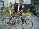 Auch Michael & Melanie Fridrich staunten über die kreative Floristikausstellung beim Jonas Schlössle