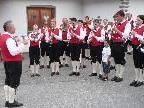Auftritt der Bürgermusik St. Gallenkirch mit Kapellmeister Willi Bitschnau.