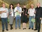 Augusto Clerici (Nenzing), Martina Nagl (Klimabündnis), Wolfgang Ammann (Nenzing), Gerlind Weber (Lehrgangsleiterin, Boku Wien), Julius Bertsch und Wolfgang Rescheneder (Akademie für Umwelt und Natur, v.l.).