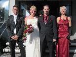 Bianca Kern und Thomas Huber haben auf dem Standesamt in Thüringen geheiratet