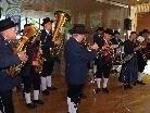 Die Delegation der Harmoniemusik hieß die Gäste musikalisch willkommen.