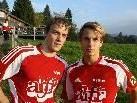 Die Lingenauer Torschützen: Mathias Popiel und Simon Fuchs