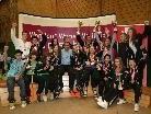 Die siegreichen SportlerInnen des KC Mäder und des KC Lustenau mit Bundestrainer Dragan Leiler.