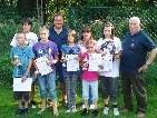 Erfolgreiche Nachwuchs-Schützen beim Union Schützenclub Höchst.