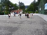 Hockeyplatz wird in Halle umgebaut