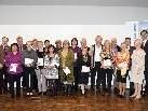 In diesem Jahr war die Zahl der Jubilare am LKH Feldkirch besonders groß: Insgesamt 219 verdiente MitarbeiterInnen feierten mit KollegInnen und Funktionären (im Bild die Neu-Pensionisten des Jahres 2010).