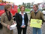 Ing. Bernd Amann mit LR Andrea Kaufmann und Heike Mennel (Kinder in die Mitte).
