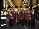 Kommandant Edi Muther, die Ehrenmitglieder und Bgm. Anton Gohm feierten den Einzug.