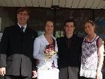 Verena Illmer und Andreas Buda haben auf dem Standesamt in Thüringen geheiratet