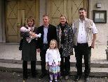 v.li.: Barbara (mit Ladina), Peter und Angelika Kessel, Karl-Heinz Stingl, Ursina Kessel