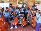 """Die """"Bochabelas"""" kommen aus den Townships von Bloemfontain in Südafrika."""