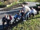 Die Gemeindevertreter bewährten sich als Hobbygärtner.
