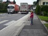 Donnernde LKW´s gehören zu Lustenau´s Verkehrsalltag.