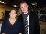 Geschäftsinhaberin Birgit Buder konnte Bürgermeister Markus Linhart in ihrem Geschäft begrüßen