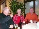 Monika Fitz mit Künstlerkollegen Joe Erne und Willi Fink