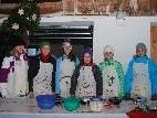 Rebecca, Anja, Katja, Anika, Judith und Linda vom Megaclub halfen beim Eröffnungsfest.