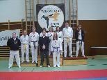 Taekwondo Dojang Teilnehmer bei den Landemeisterschaften.