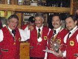 v.li.: Erich Bitschnau, Zunftmeister Joe Fritz, Edmund Bucher und Franz Palfi