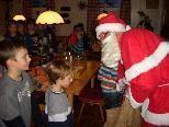 Am Nachmittag war der Weihnachtsmann zu Besuch