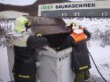 Containerbrand von der Feuerwehr rasch gelöscht.