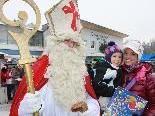 Der Nikolausbesuch war für die Kleinen natürlich der besondere Höhepunkt.
