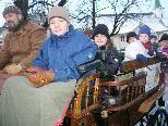 Die Gratis-Kutschenfahrten beim Chrsitkindlemarkt mit Oliver Marte waren ausgebucht.