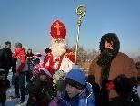 Nur die mutigsten Kinder ließen sich mit dem Hl. Nikolaus und dem Knecht Ruprecht fotografieren