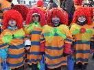 Clowns in Hülle und Fülle: Die Altacher Kindergärtler.